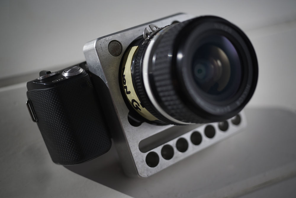 Sony NEX5n with ultra hard mount cage.